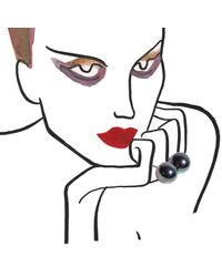 Maria Stern | Large Double Black Pearl Ring | Lyst