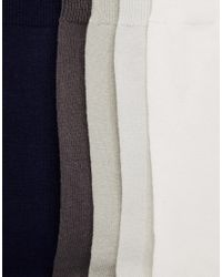 ASOS | Blue Socks 5 Pack In Grey And Navy for Men | Lyst
