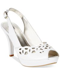 Anne Klein - White Women'S Rubena Platform Pumps - Lyst