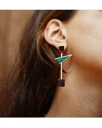 Eshvi - Multicolor Back To School Pastel Marble Linear Earrings - Lyst
