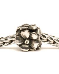 Trollbeads - Metallic Rose Silver Charm Bead - Lyst
