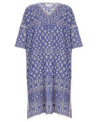 Isabel Marant   Blue Beverley 3/4 Slve Printed Dress   Lyst