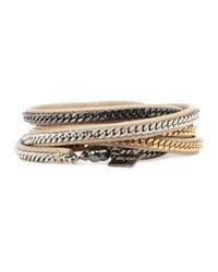 Vita Fede - Natural Mushroom Chain Embellished Multi-Wrap Bracelet - Lyst