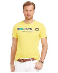 Polo Ralph Lauren | Yellow Big And Tall Sailing Team Graphic T-shirt for Men | Lyst