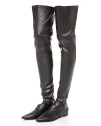 Tibi - Black Thea Convertible Over The Knee Boots - Lyst