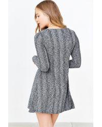 BDG - Gray Camp Sweater Dress - Lyst
