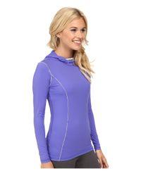 Terramar - Purple Microcool™ Long Sleeve Hoodie W8836 - Lyst