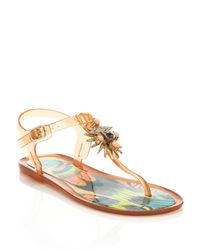 Ivy Kirzhner | Pink Jezabelle Jeweled Rubber Thong Sandals | Lyst
