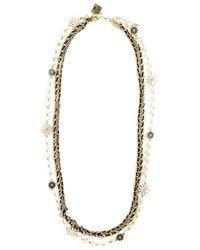 Edward Achour Paris - Black Flower Chain Necklace - Lyst
