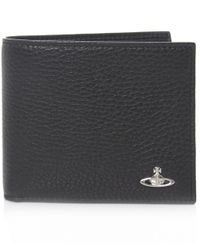 Vivienne Westwood - Black Punk Grained Leather Orb Wallet for Men - Lyst
