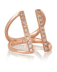 Carbon & Hyde - Pink Bar 14-karat Rose Gold Diamond Ring - Lyst