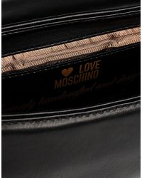 Love Moschino | Black Medium Fabric Bag | Lyst