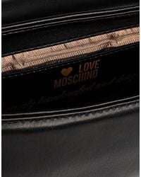 Love Moschino - Black Medium Fabric Bag - Lyst