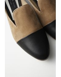 Rag & Bone - Natural Sabine Suede and Leather Loafers - Lyst