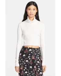 A.L.C. | White 'milo' Crop Turtleneck Sweater | Lyst