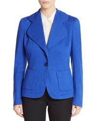 ESCADA - Blue Cashmere & Wool Jacket - Lyst