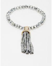 ALDO | Metallic Silver Mantigno Tassel Bracelet | Lyst