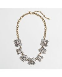 J.Crew - Metallic Factory Crystal Crush Necklace - Lyst