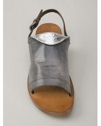 Silvano Sassetti | Gray Buckled Sandals | Lyst