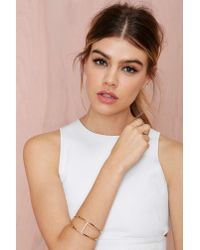 Nasty Gal | Metallic Raise Up The Bar Cuff | Lyst