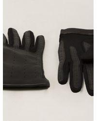 Lanvin - Black Short Jersey Gloves - Lyst