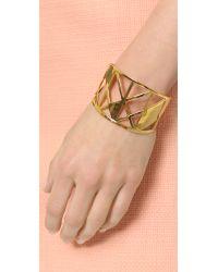Gorjana - Metallic Maya Cuff Bracelet - Gold - Lyst