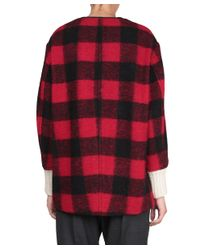Étoile Isabel Marant - Red Gelicia Wool Coat - Lyst