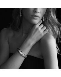 David Yurman - Metallic Labyrinth Link Drop Earrings with Diamonds in Gold - Lyst