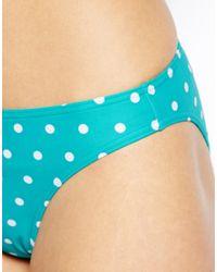 Esprit - Blue Bondi Beach Large Spot Bikini Brief - Lyst