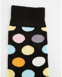 Happy Socks | Multicolor Big Dot Socks for Men | Lyst