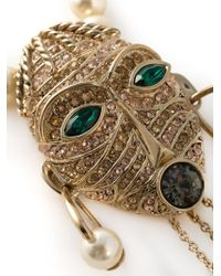 Roberto Cavalli | Metallic 'Pearls Mask' Necklace | Lyst