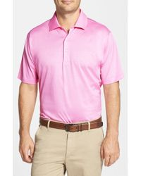 Peter Millar | Pink Egyptian Cotton Lisle Polo for Men | Lyst