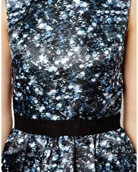Markus Lupfer | Blue Sequinned Print Vivian Dress | Lyst