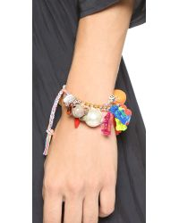 Venessa Arizaga - Metallic Party City Bracelet - Gold Multi - Lyst