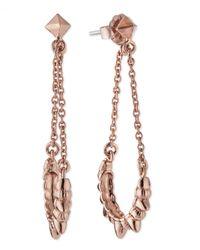 Pamela Love | Metallic Spike Chain Drop Earrings | Lyst