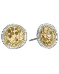 Anna Beck   Metallic Dish Earrings W/ Post   Lyst