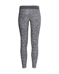 H&M - Black Yoga Tights - Lyst