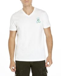 Psycho Bunny | White Camouflage Logo Tee for Men | Lyst
