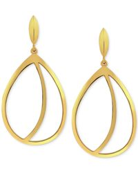 Vince Camuto - Metallic Gold-tone Cut-out Drop Earrings - Lyst