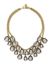 Lulu Frost | Metallic Decade Goldplated Faux Pearl and Crystal Necklace | Lyst