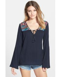 Billabong | Blue 'solar Sun' Peasant Top | Lyst