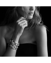 David Yurman | Metallic Cable Classics Three-row Bracelet With Diamonds In Gold | Lyst