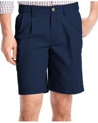 Izod | Blue Big And Tall Pleated Saltwater Shorts for Men | Lyst