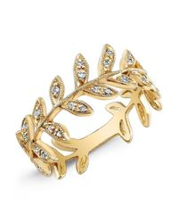 Anne Sisteron | Metallic 14kt Yellow Gold Diamond Wreath Ring | Lyst