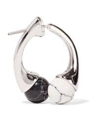 Noir Jewelry - Metallic Silver-tone Resin Earrings - Lyst