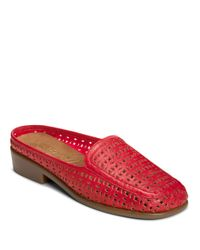 Aerosoles | Red Dubble Bath Faux Leather Backless Loafers | Lyst