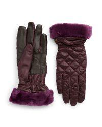 UGG | Purple Shearling Cuff Tech Gloves | Lyst