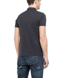 Replay - Blue Short Sleeve Polo T-shirt for Men - Lyst
