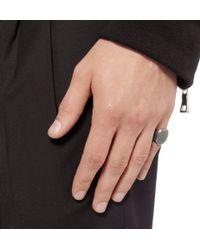 Bottega Veneta - Metallic Engraved Sterling Silver Signet Ring for Men - Lyst