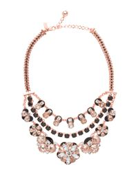 Kate Spade | Metallic Fame And Flowers Multi Strand Necklace | Lyst